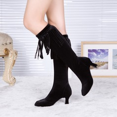 Women's Suede Dance Boots Dance Shoes