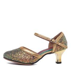 Женщины кожа На каблуках Латино Обувь для танцев