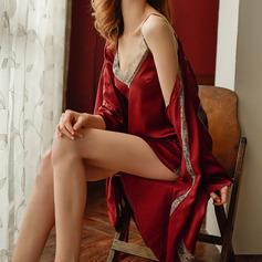 Атлас Классический Свадебная/женственный пижама