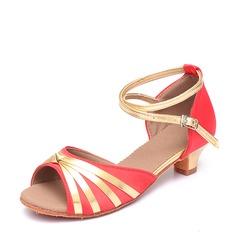 De mujer Satén Cuero Danza latina Zapatos de danza
