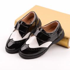 Kønsrelaterede Round Toe Lukket Tå Leatherette lav Hæl Fladsko Sneakers & Atletik Flower Girl Shoes med Velcro