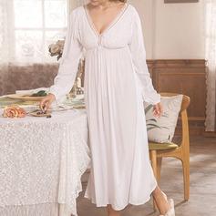 Bomull Brud/Feminin Nattkläder