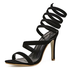 Women's Suede Stiletto Heel Sandals Pumps With Others shoes