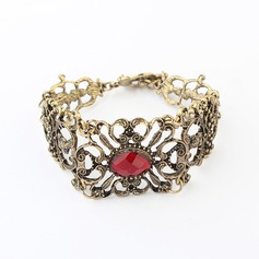Vintage Alloy With Imitation Stones Women's Fashion Bracelets