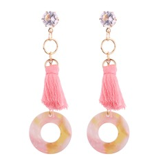 Fashional Alloy Rhinestones Acrylic Ladies' Fashion Earrings