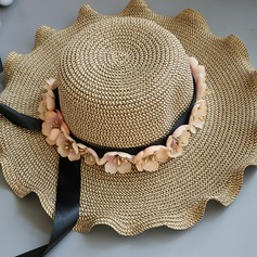 Ladies' Special/Glamourous/Elegant Raffia Straw With Flower Straw Hat/Beach/Sun Hats