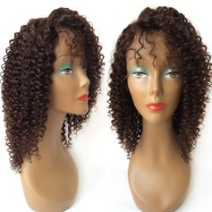 Curly Human Hair Parykker Lace Front Parykker