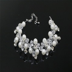 Elegante Diamantes de imitación/La perla de faux con Rhinestone/La perla de faux Señoras' Pulseras