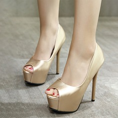 Femmes PU Talon stiletto Escarpins Plateforme À bout ouvert avec Autres chaussures
