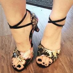 De mujer Satén Tacones Danza latina con Arco del satén Zapatos de danza