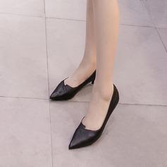 Femmes Similicuir Talon stiletto Escarpins Bout fermé avec Semelle chaussures