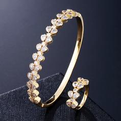 Ladies' Fancy Copper/Zircon Jewelry Sets