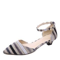 De mujer Tela Tacón bajo Salón Cerrados con Hebilla zapatos
