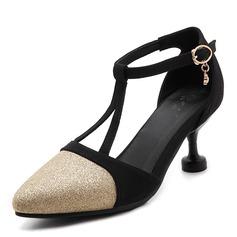 Frauen Funkelnde Glitzer Stöckel Absatz Absatzschuhe mit Hohl-out Schuhe