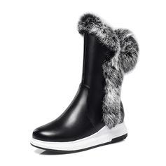 Vrouwen Kunstleer Low Heel Plateau Laarzen Snowboots met Bont schoenen