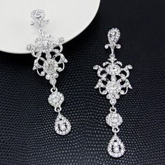 Romantic Alloy/Rhinestones Ladies' Earrings (011122118)