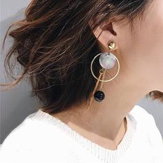 Legierung Schale Frauen Art-Ohrringe