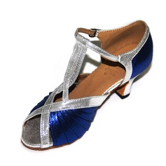 Femmes Tissu Talons Latin avec Lanière de cheville Chaussures de danse