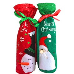 New Year Party Christmas Day Red Wine Bottle Holder Favor Bag