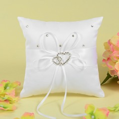 Gorgeous Ring Pillow With Bow/Double Hearts (103062307)