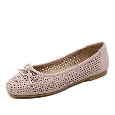 De mujer Cuero Tacón plano Planos con Bowknot Agujereado zapatos