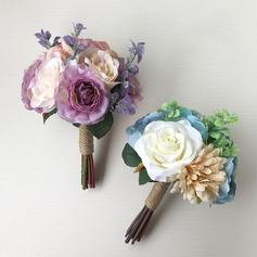 Vivifiant Rond Bouquets de demoiselle d'honneur -