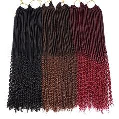 syntetiska hår flätor (Säljs i ett enda stycke) 80g