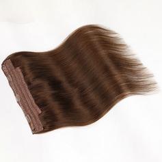 4A Ej remy Rakt människohår Tape i hårförlängningar (Säljs i ett enda stycke) 100g
