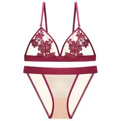 Vrouwelijk Verfijnd Polyester Lingerie Set