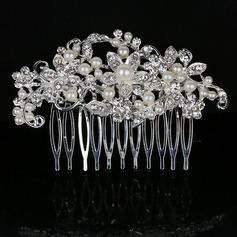 Elegante Rhinestone/Aleación/La perla de faux Peines y pasador