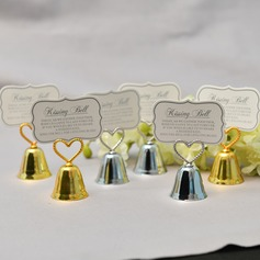 """""""Love Story""""/Classic Heart Shaped Zinc Alloy Place Card Holders"""