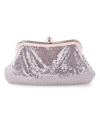 Elegante/Encanto/Luminoso de aluminio Bolso Claqué/Bolsos De Noche