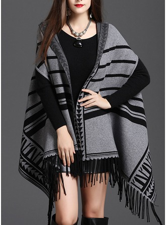 Retro/Vintage Cold weather Knitting Poncho