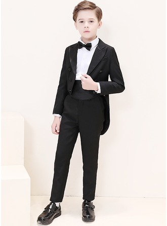 Boys 6 Pieces Elegant Ring Bearer Suits /Page Boy Suits With Jacket Shirt Pants Bow Tie Cummerbund Pocket Square