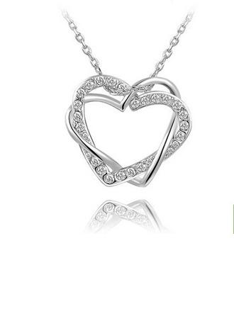 Shining Alloy/Zircon Ladies' Necklaces