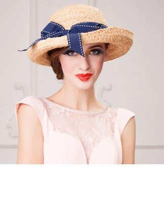 Dames Elegant Rotan Straw Bowlingspeler / Glazen kap Hat/Theepartij hoeden