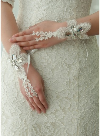 Blonder Håndleddet Lengde Brude Hansker