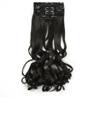 Lösa syntetiska hår Klämma i hårförlängningar 5PCS