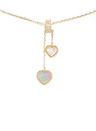18 Karat vergoldet Herz Anhänger Halskette