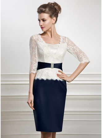 Knee-Length Mother of the Bride Dress With Beading