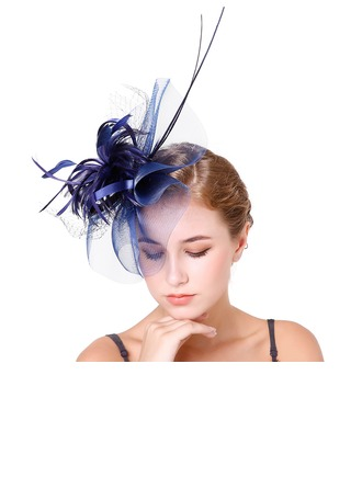 Dames Élégante Feather/Fil net avec Feather Chapeaux de type fascinator/Kentucky Derby Des Chapeaux/Chapeaux Tea Party
