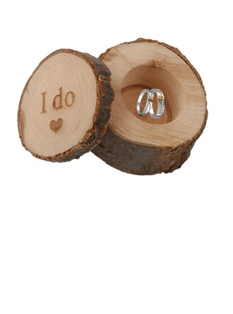 """""""I do""""/Shabby Rustic Ring Box in Wood (Set of 3)"""