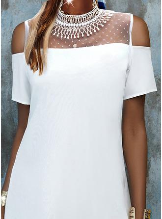 Shift Short Sleeves Mini Casual Tunic Dresses