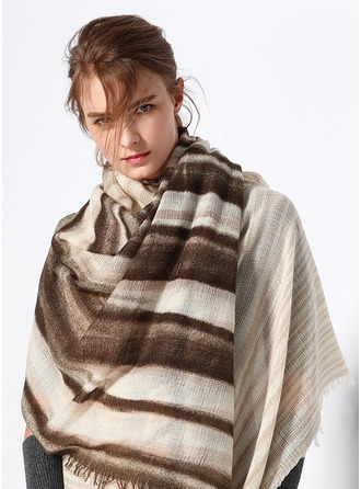 Striped Oversized/simple/Cold weather Wool Scarf