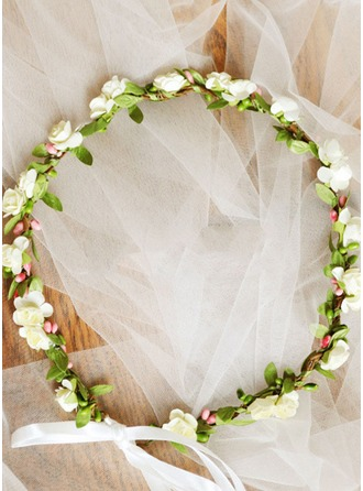 Artificial Silk With Ribbon Flower Headband