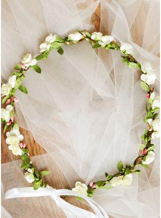 Kunstseide mit Band Blumen-Stirnband