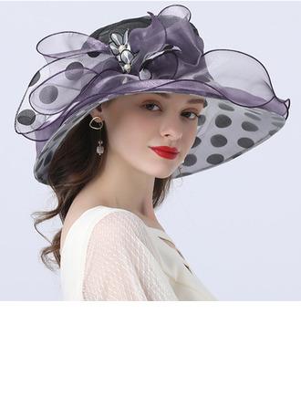 Ladies' Hottest/Romantic Organza With Imitation Pearls Beach/Sun Hats/Tea Party Hats