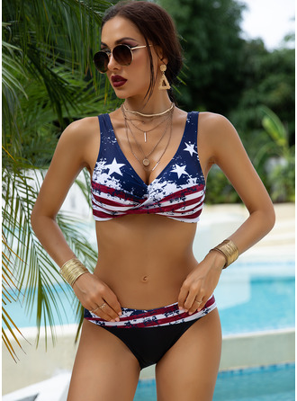 Bikinis Polyester Star Women's Yes Swimwear
