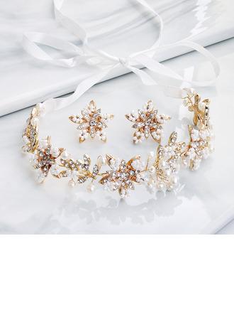 Damen Elegant Strasssteine/Faux-Perlen Schmuck Sets Ihr/Freunde/Braut/Brautjungfern/Blume Mädchen