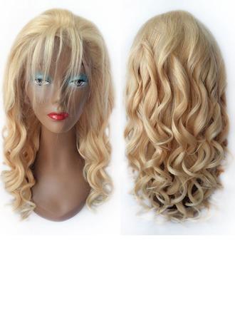 4A non remy Loose Wavy Cheveux humains Perruques avant en dentelle